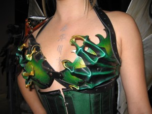 dragon Claw Leather Bra