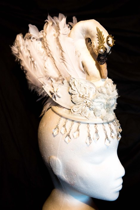 white swan headdress